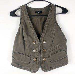 Army Green Button Down Vest Size 2